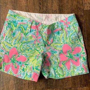 🔥 lily Pulitzer Callahan shorts size 0